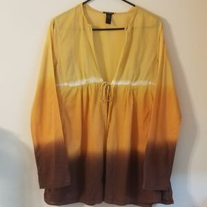 Lucky Brand Multicolor Open Cardigan Size M